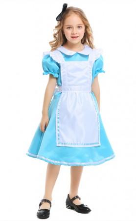 Halloween Alice In Wonderland Kids Maid Costumes