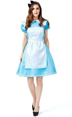 Halloween Alice In Wonderland Parental Maid Costumes