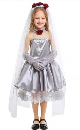 Halloween Child Cosplay Ghost Bride Masquerade Costume