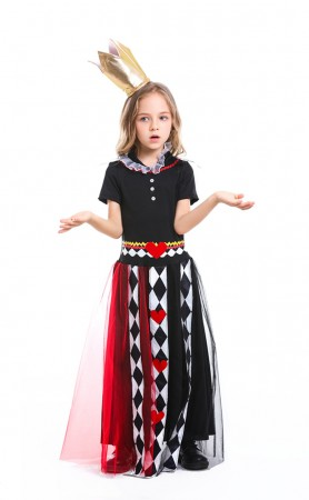Halloween costumes Child Alice In Wonderland Poker Girls Suit