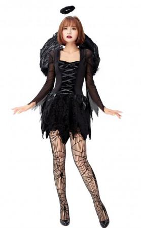 Halloween Women Sexy Fallen Angel Costume