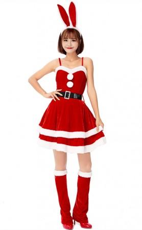 Red Bunny Ears Christmas Dress