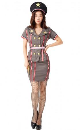 Halloween Sexy Navy Female Instructor Sexy Uniform