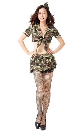 Halloween Sexy Spy Camouflage Warrior