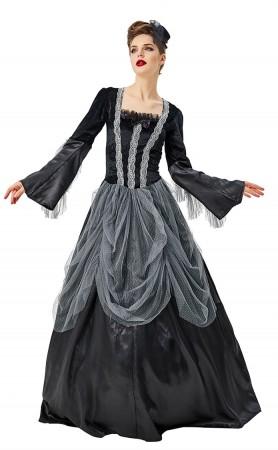Halloween Costume Gorgeous Vampire Witch Black Court Dress