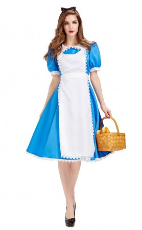 Halloween Alice In Wonderland Blue Stage Costume