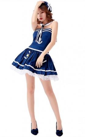 Halloween Ladies Sexy Blue Sailor Costume