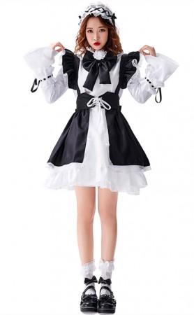 Halloween Loli Maid Black And White Lolita Costume