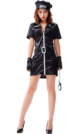 Halloween Sexy High Elastic Sexy Women Police Costume