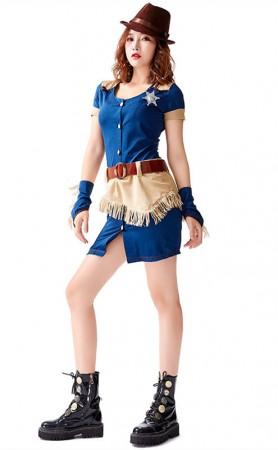 Halloween Woman Denim Sailor Uniforms