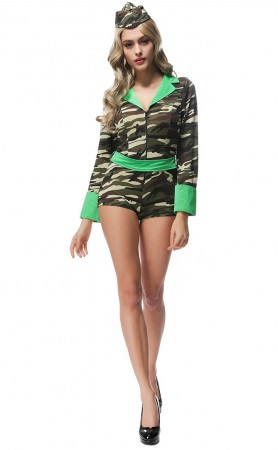 Halloween Women Tight Camouflage Jumpsuits