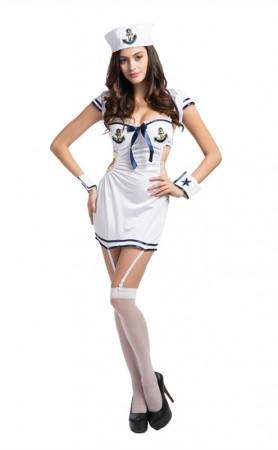Halloween Woman Sailor Pin-Up Adult Costume