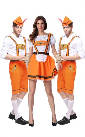 German Beer Bavarian Oktoberfest Couple Lederhosen Costume