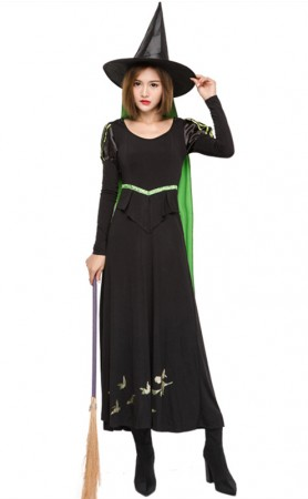 Halloween Party Fake Two Piece Witch Costumes