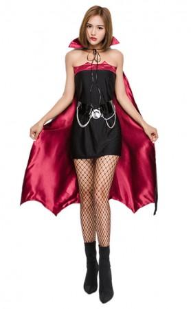 Halloween Vampire Bat Vamp Costume