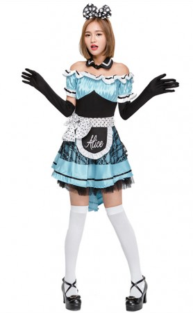 Halloween Alice In Wonderland Maid Princess Dress