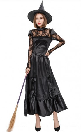 Halloween Black Sexy Witch Cosplay Costume
