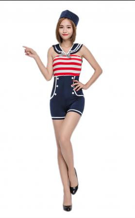 Halloween Costume Women Navy Uniform