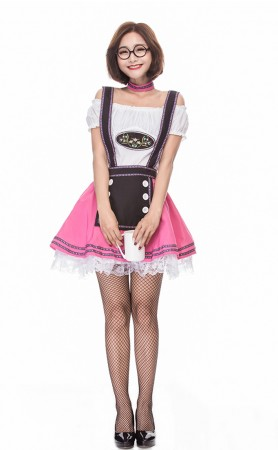 Halloween Deluxe German Oktoberfest Cute Beer Girl Costume