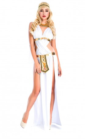 Egyptian Roman Greek Goddess Halloween Costume For Women Ancient Gown