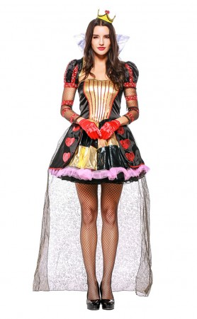 Halloween Alice Heart Queen Costume