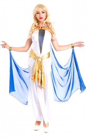Halloween Egyptian Queen dresses Blue Greek Goddess