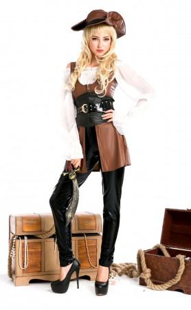Halloween Deluxe Swashbuckler Pirate Costume