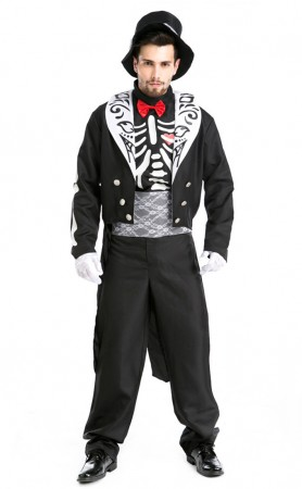Halloween Skeleton Zombie Knight Cosplay Costume