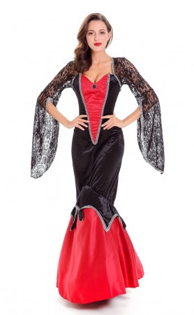 Deluxe Halloween Vampire Costume Dress for Women