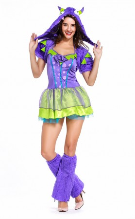 Halloween Purple Posh Monster Classic Costumes