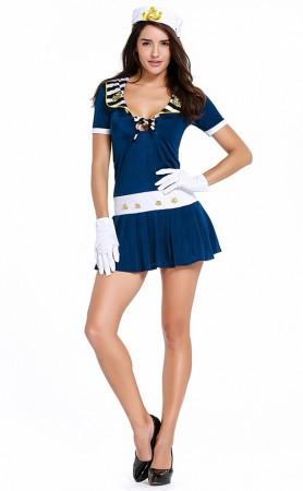 Halloween Dark Blue Navy Sailor Uniform