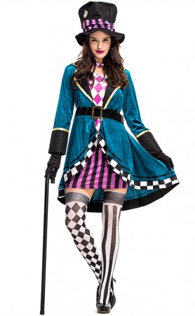 Halloween Wizard Of Oz Female Magician Cosplay Costumes