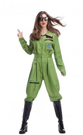 Halloween Costume Female Pilot Uniform