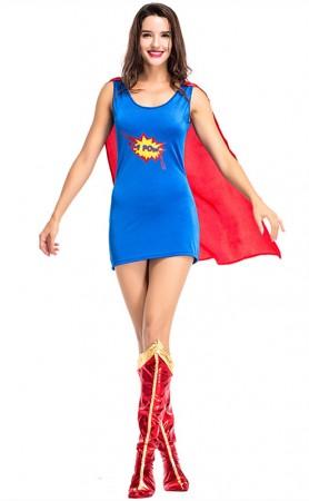 Halloween Sexy Superwoman Captain America Costume