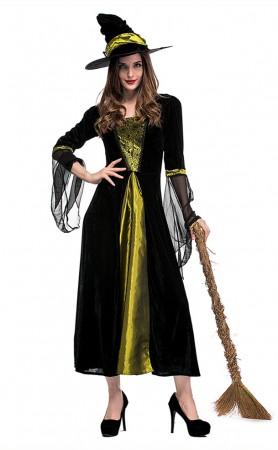 Halloween Black Spider Witch Costumes