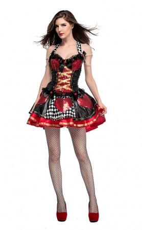 Halloween Women Feisty Queen Of Hearts Costume
