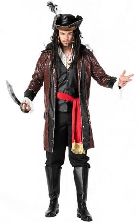 Halloween Mens Fancy Pirate Costume