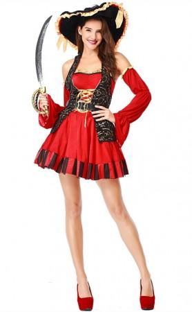 Luxury Woman Pirate Queen Halloween Costumes