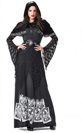 Halloween Cosplay Vampire Sorcerer Long Sleeve Costume