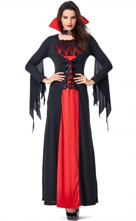 Halloween Black Lace Vampire Bat Costume