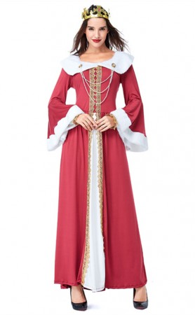 Halloween Vintage Royal Court Lady Dress