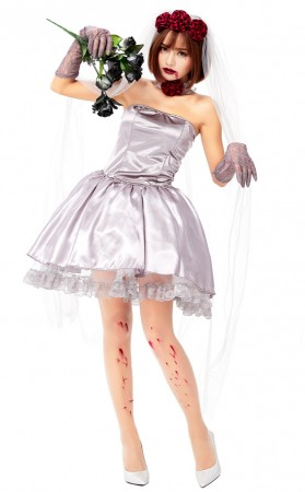 Halloween Woman Ghost Zombie Bride Halloween Costume
