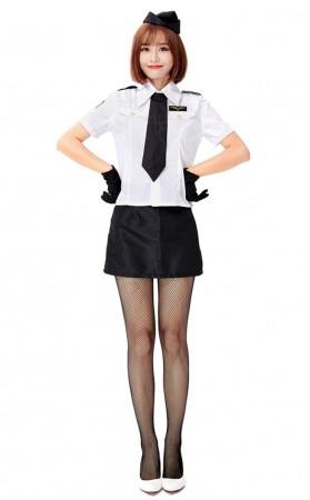 Halloween Sexy First Class pilot Captain Costume