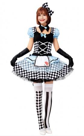 Halloween Alice In Wonderland Alarm Clock Maid Dress