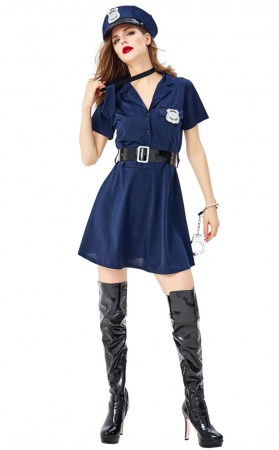 Sexy Policewoman Uniform Halloween Cosplay Costume