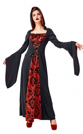 Halloween Cosplay Long Sleeve Ghost Vampire Dress