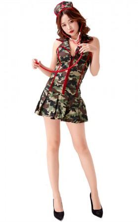 Halloween Sexy Army Triage Nurse Costume