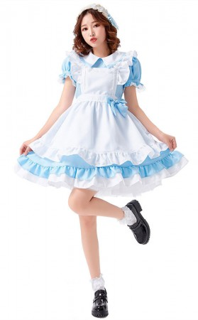 Halloween Lolita Cosplay Alice Dress