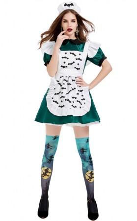 Halloween Magic Broom Evil Maid Costume