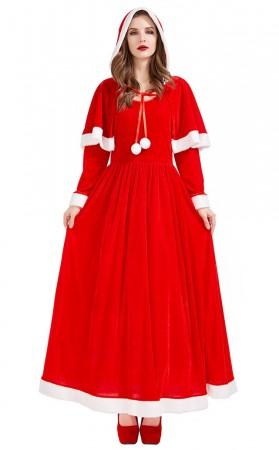Christmas Eve Party Santa Shawl Dress